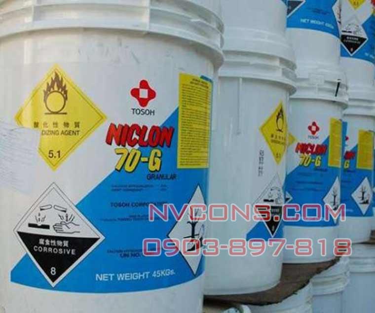 Hóa chất khử trùng nước hồ bơi Niclon Clorine Nhật 70G giá tốt