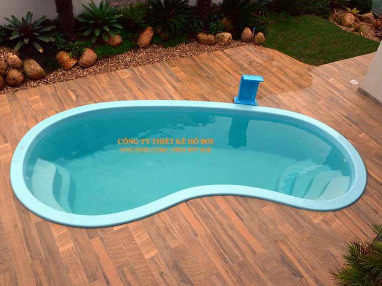 Thiết kế thi công bể bơi composite mini hình oval
