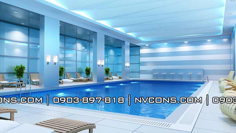 Thiết kế bể bơi bốn mùa trong nhà