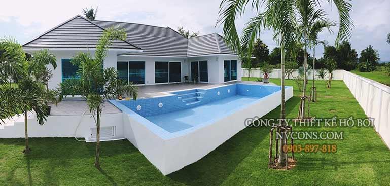 Thiết kế bể bơi biệt thự sân vườn
