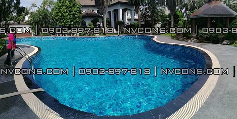 Thiết kế bể bơi biệt thự siêu sang