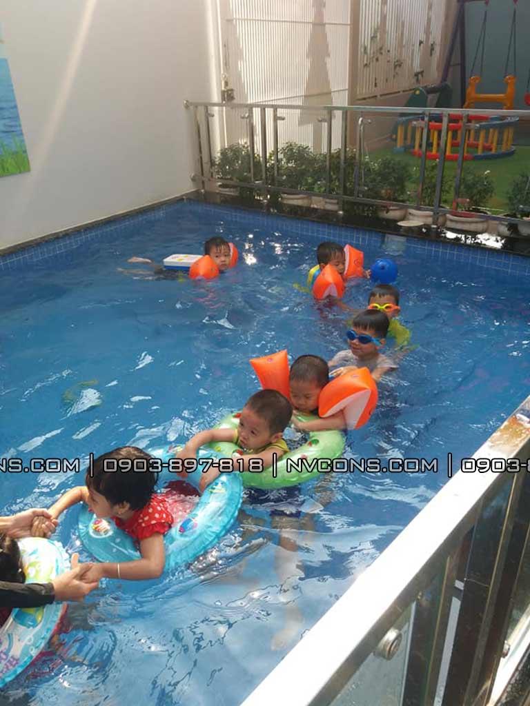 Thiết kế bể bơi mini dành cho trẻ em