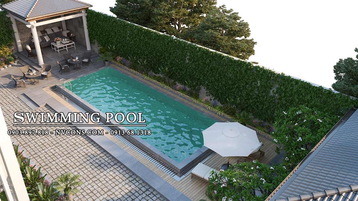 Thiết kế bể bơi mini gia đình tại Bình Chánh TPHCM