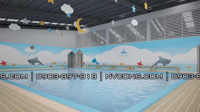 Thiết kế bể bơi trẻ em trường mẫu giáo