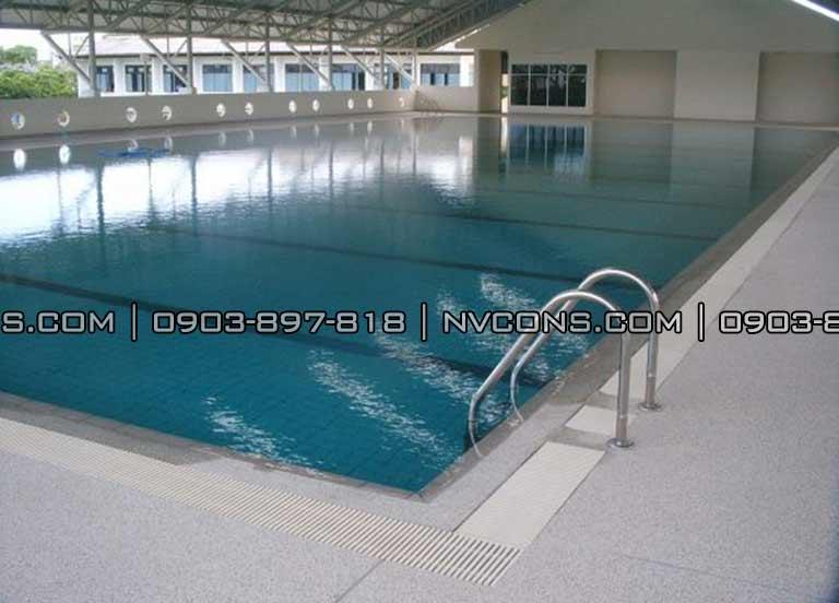 Thiết kế hồ bơi trường học THPT