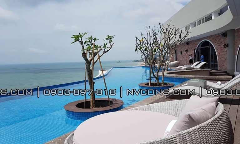 Thiết kế hồ bơi Cao Hotel Vũng Tàu rất đẹp